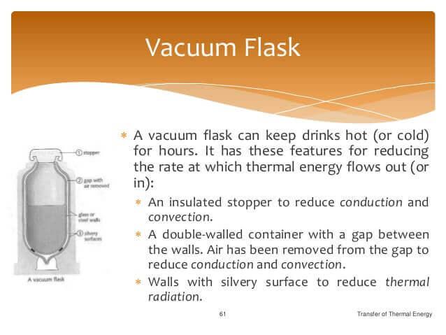 Reduce heat transfer through conduction