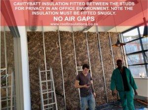 Soundproofing between walls