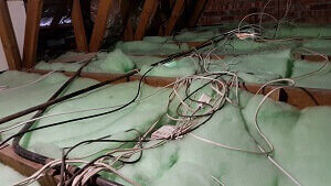 Isotherm Installed in roof with wires above insulation