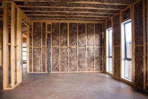 Knauf Ecose Insulation installed in walls