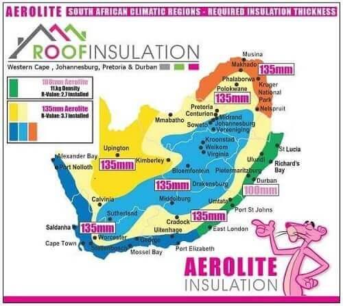 Aerolite Specifications SANS Map
