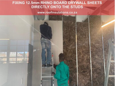 Fitting Drywall Partitioning Panels to studs
