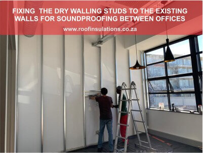 Fixing drywall partitioning studs