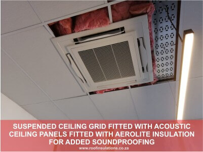 Suspended Ceiling Grid Fitted and Accoustic pannels fitted with Aerolite as added Soundproofing