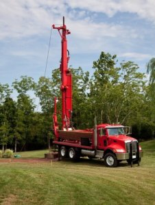 Borehole Water Drilling Rig on site