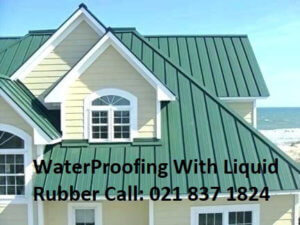 Modern Home With Roof Leaks Sealed By WaterProofing Roof With Liquid Rubber