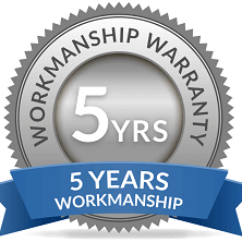 roof insulation offers a five year workmanship guarantee