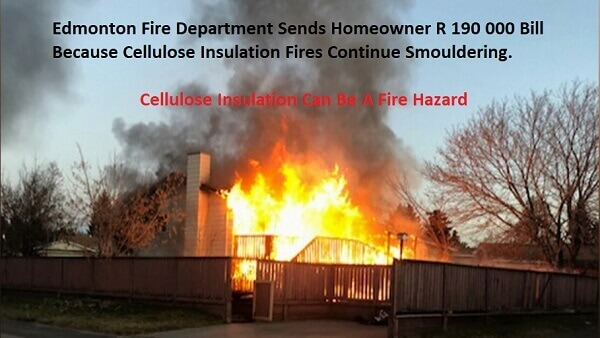 Eco-insulation and thermguard insulation are cellulose roof insulation fire hazard