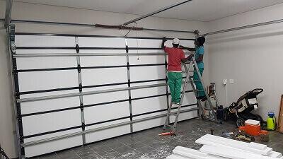 Completed Garage door with EPS Insulation