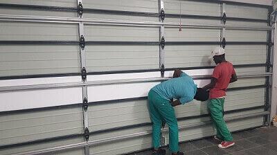 Fitting Garage Door Insulation Pannels